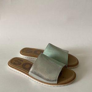 Sorel Ella Block Slides Sandals Vivid Mint